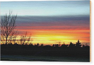 Wood Print featuring the photograph Morning Glory by Shirley Heier