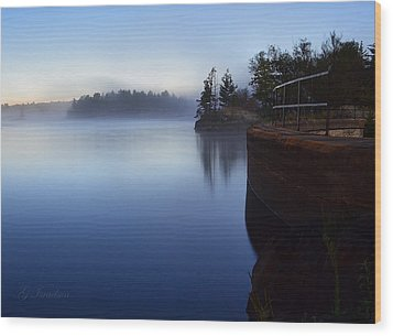 Wood Print featuring the photograph Morning Glow by Gregory Israelson