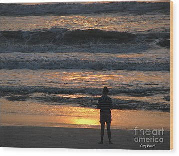 Wood Print featuring the photograph Morning Has Broken by Greg Patzer