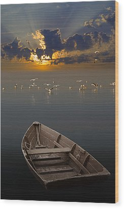Morning Has Broken Like The First Morning Wood Print by Randall Nyhof