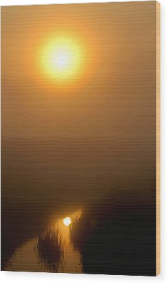 Morning Haze Wood Print