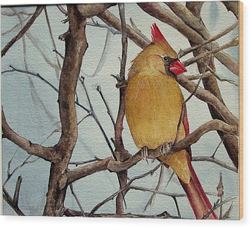 Wood Print featuring the painting Morning Herald by Margit Sampogna