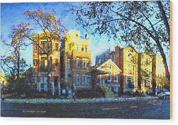 Morning In Bucktown Wood Print by Dave Luebbert
