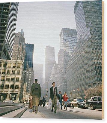 Morning In Manhattan Wood Print by Shaun Higson
