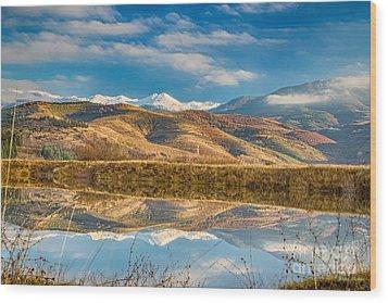 Morning In Pirin Mountain Wood Print