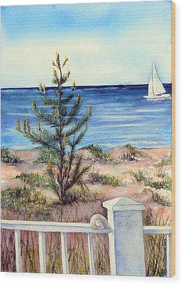 Morning In The Hamptons Wood Print