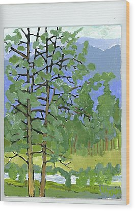 Morning In The Hills Wood Print by Rodger Ellingson