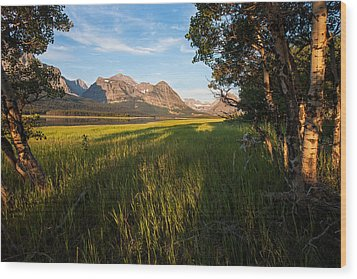 Wood Print featuring the photograph Morning In The Mountains by Jack Bell