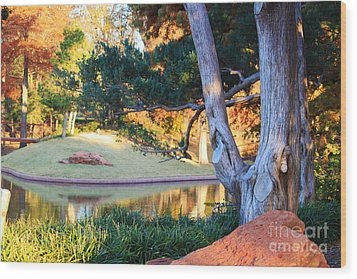 Morning In The Park Wood Print