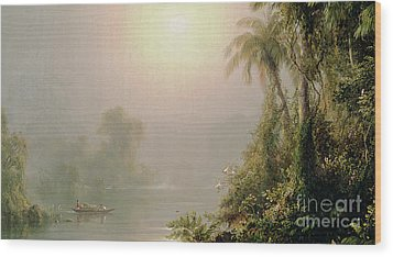 Morning In The Tropics Wood Print by Frederic Edwin Church