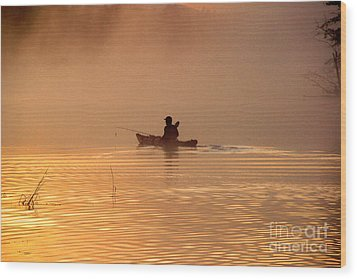 Morning Launch Wood Print by Butch Lombardi