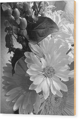'morning Light Bouquet' Wood Print