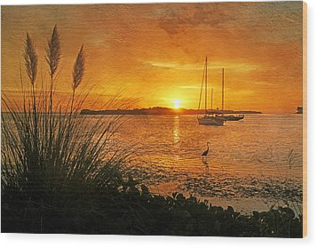 Morning Light - Florida Sunrise Wood Print by HH Photography of Florida