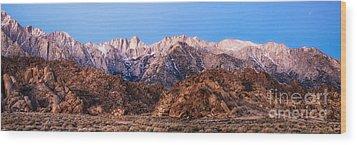 Morning Light Mount Whitney Wood Print