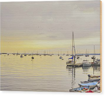 Morning Light Rockland Maine Wood Print