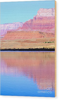 Morning Light - Vermillion Cliffs And Colorado River Wood Print by Douglas Taylor