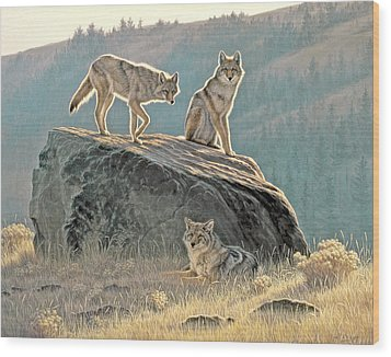 Morning Lookouts Wood Print by Paul Krapf