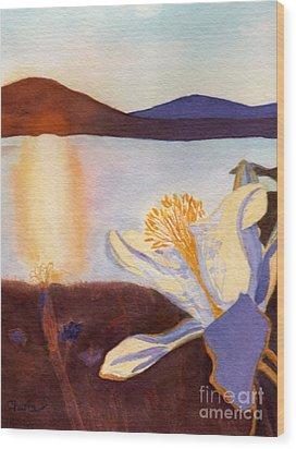 Morning Mesa Columbine Wood Print by Vikki Wicks