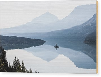 Wood Print featuring the photograph Morning Mist by Aaron Aldrich