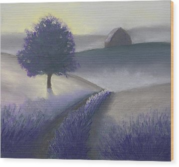 Morning Mist Wood Print by Garry McMichael
