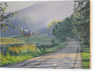 Morning Mist Wood Print by Kenneth Young