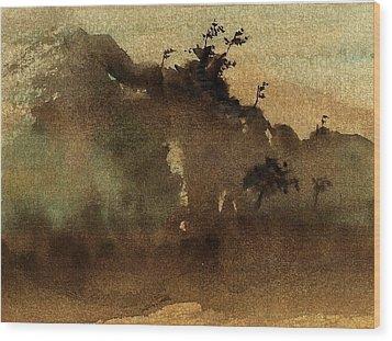 Morning Mist Wood Print by Richard Hinger
