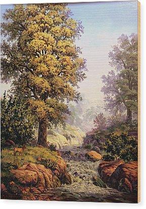 Morning Mist Wood Print by W  Scott Fenton