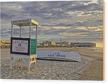 Morning On The Beach Wood Print by Dan Myers