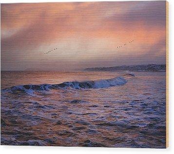 Morning On The Coast Wood Print by Roy  McPeak
