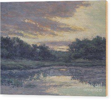 Morning On The Marsh / Wellfleet Wood Print by Gregory Arnett