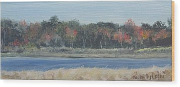 Morning On The Maurice River Wood Print