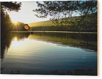 Morning Peace Wood Print by Jahred Allen