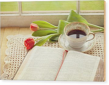 Morning Psalms Wood Print by Kay Pickens