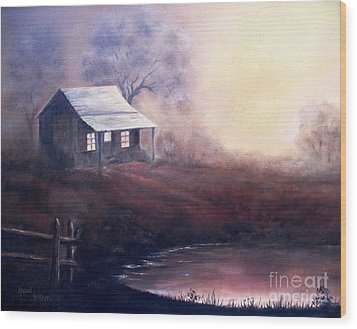 Wood Print featuring the painting Morning Reflections by Hazel Holland