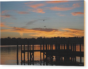 Wood Print featuring the photograph Morning Reflections by Michele Kaiser