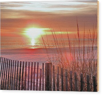 Morning Sandfire Wood Print