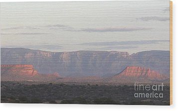 Morning Sedona.... Wood Print by George Mount