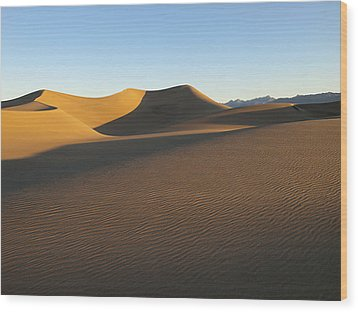 Wood Print featuring the photograph Morning Shadows by Joe Schofield