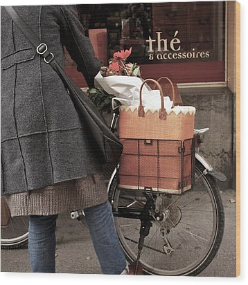 Wood Print featuring the photograph Morning Shopping by Colleen Williams