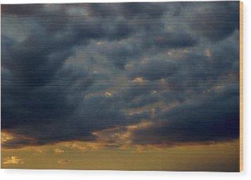 Morning Sky Wood Print by Yvette Pichette