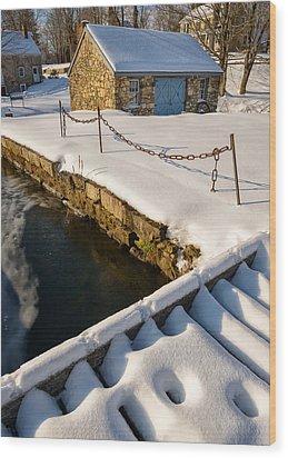 Morning Snow Wood Print