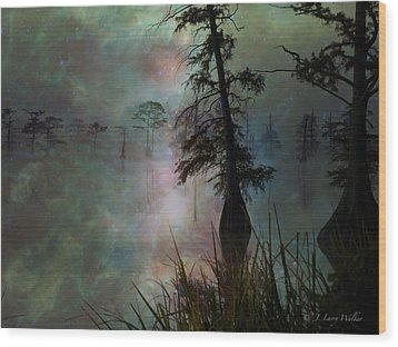 Wood Print featuring the digital art Morning Solitude by J Larry Walker