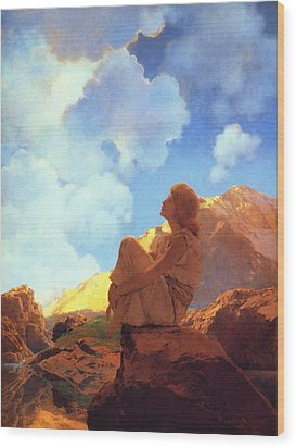 Morning Spring Wood Print by Maxfield Parrish