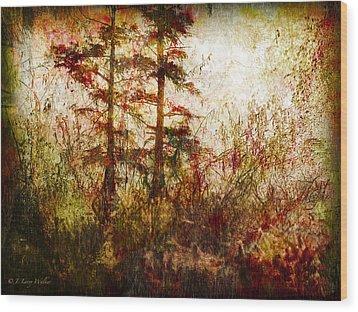 Morning Sunrise Burst Of Color Wood Print by J Larry Walker