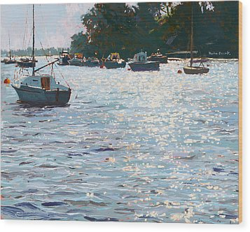 Morning Tide Wood Print by Martin Decent