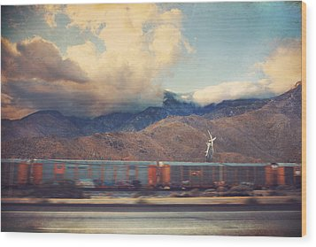 Morning Train Wood Print by Laurie Search