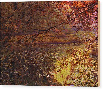 Morning Tranquility Wood Print by J Larry Walker