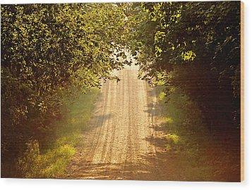 Morning Walk II Wood Print