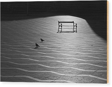 Wood Print featuring the photograph Morning Walk by Inge Riis McDonald