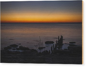 Morning Water Colors Wood Print by CJ Schmit